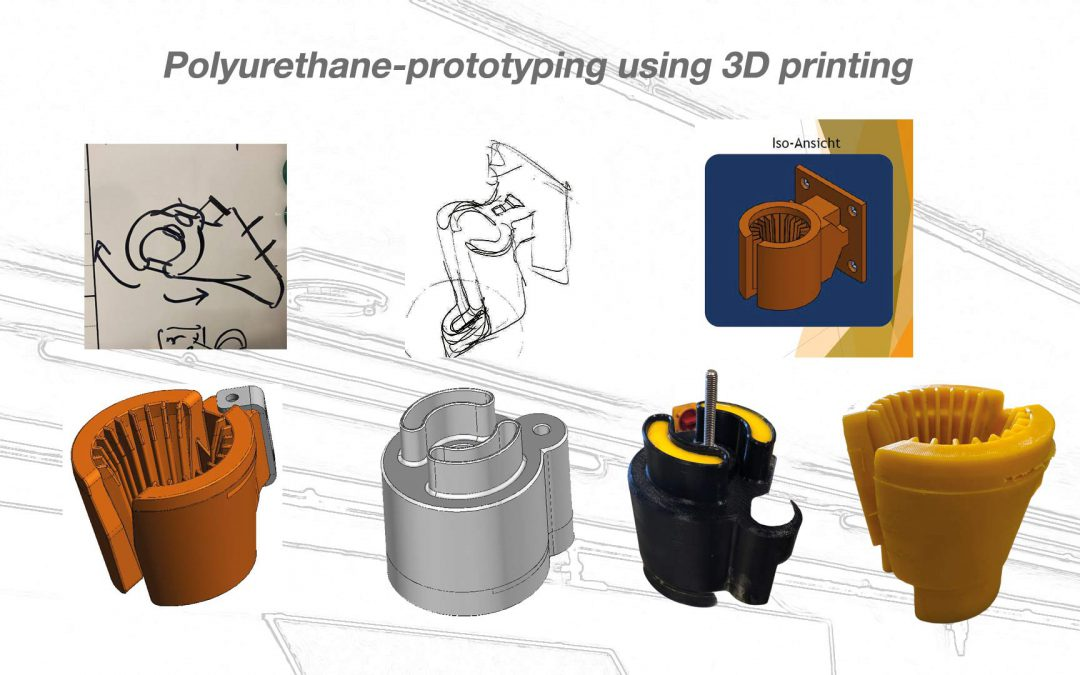 Polyurethane-prototyping using 3D printing